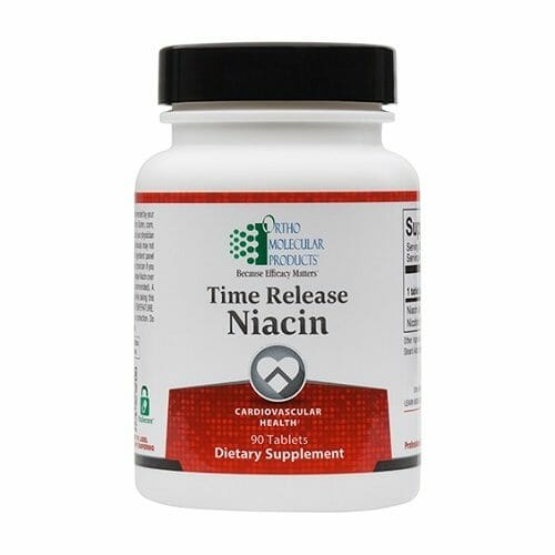 Ortho Molecular Products Time Release Niacin, 90 Tablets