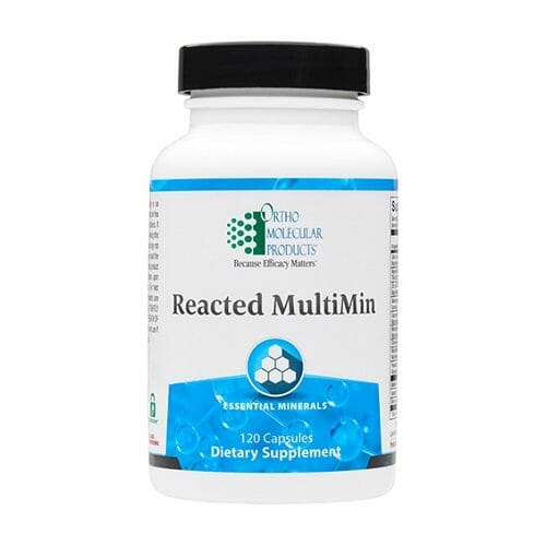 Ortho Molecular Products Reacted Multimin, Amino Acid Chelated Minerals, 120 Capsules