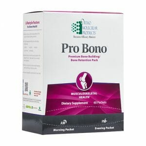 Ortho Molecular Products Pro Bono, AM/PM Bone Density Support, 30 Packets, women's health