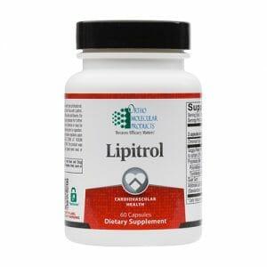 Ortho Molecular Products Lipitrol, Cardiovascular Aid, 60 Capsules