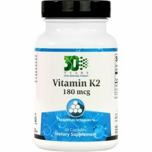 Ortho Molecular Products Vitamin K2 180 mcg, High-Concentration Formula, 60 Capsules