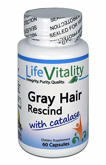 Gray Hair Supplement Reviews 2019, Gray Hair Rescind, catalase