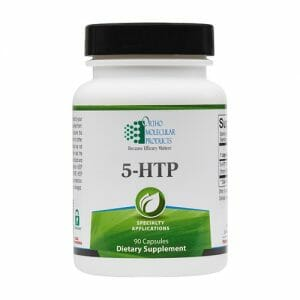 5-HTP 100 mg | Ortho Molecular Products | Serotonin Aid, 90 Capsules, blood-brain barrier