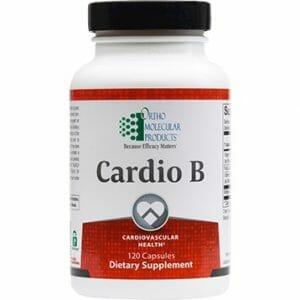 Cardio B | Ortho Molecular Products | B-Complex Vitamins, 120 Caps, homocysteine