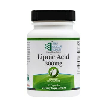 Ortho Molecular Products Lipoic Acid, 300 mg, 60 Capsules