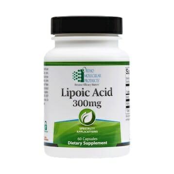 Ortho Molecular Products Lipoic Acid, 300 mg, 60 Capsules