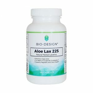 Bio-Design Aloe Lax 225, Aloe Ferox for Occasional Constipation, 180 Capsules