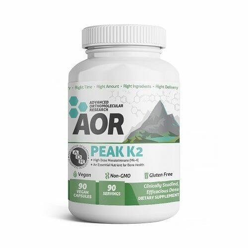 Advanced Orthomolecular Research Peak K2, Vitamin K2 [MK-4], 90 Vegetable Capsules