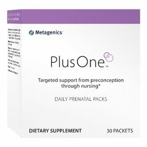 Metagenics PlusOne Daily Prenatal Packs, Iron, Folate & More, 30 Packets