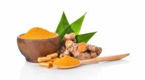 curcumin, turmeric root, powder