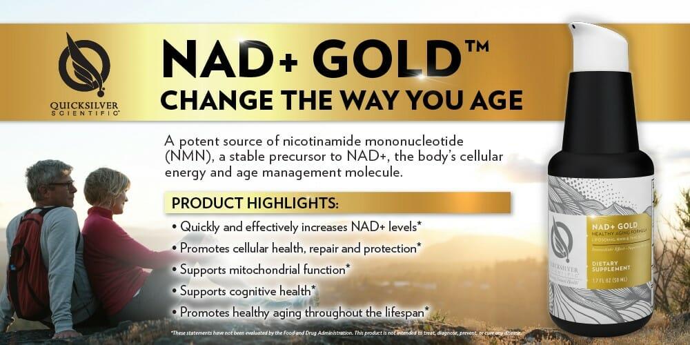 quicksilver scientific liposomal NAD+ gold