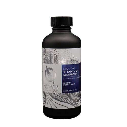 Quicksilver Scientific Vitamin C+ Elderberry, 3.38 fl oz.