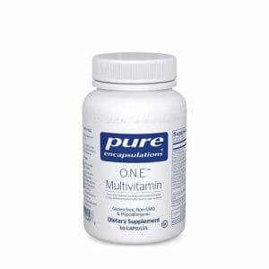 Pure Encapsulations O.N.E. Multivitamin, Gluten Free, Non-GMO, Hypoallergenic, 60 Capsules
