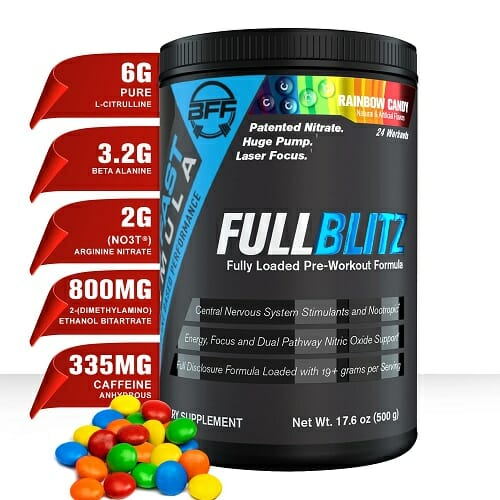 Fullblitz | Build Fast Formula | Complete Workout Support, 24 Servings