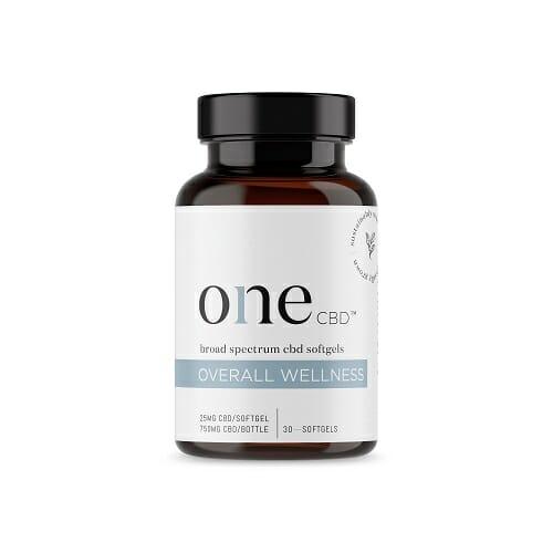 One CBD 25mg Nanoemulsion CBD Softgels | Overall Wellness, 30 Count