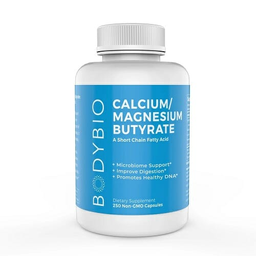 BodyBio Butyrate with Calcium/Magnesium | 250 Capsules