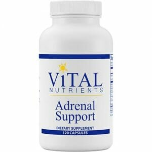 vital nutrients adrenal support, 120 capsules, adaptogenic herbs, adaptogens, bovine adrenal extracts