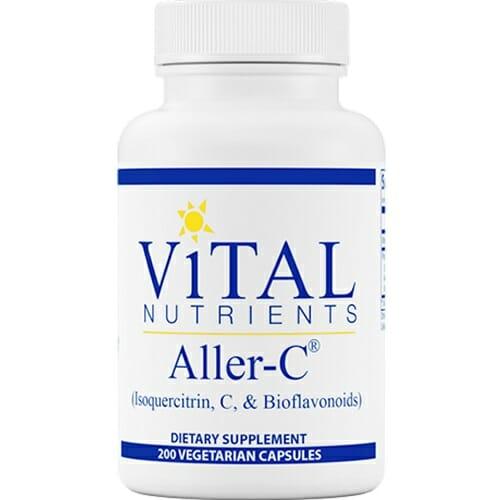 Vital Nutrients Aller-C | Isoquercitrin, Bromelain, 200 Capsules