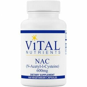 Vital Nutrients NAC (N-Acetyl-l-Cysteine) | 600 mg, 100 Veg Caps