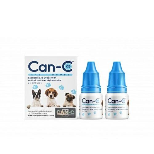 Can-C K9 Eye Drops   N-acetylcarnosine, NAC, Dogs, 2 Vials