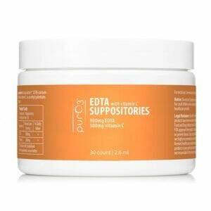 PurO3 EDTA Suppositories with Vitamin C | Excrete Heavy Metals Easily