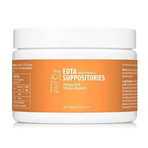 PurO3 EDTA Suppositories with Vitamin C | Excrete Heavy Metals Easily