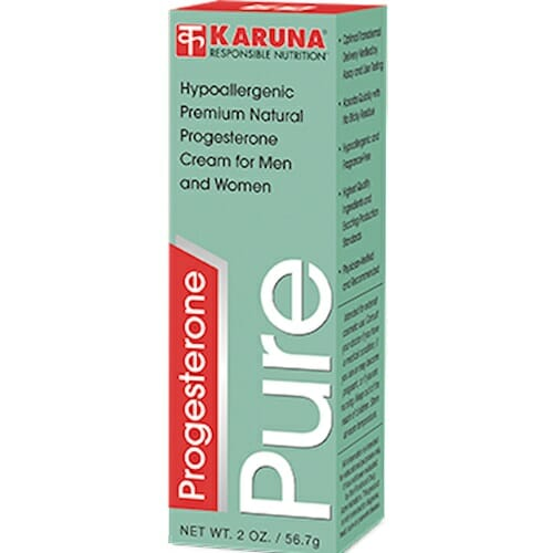 Karuna Progesterone   Pure Cream for Men and Women, 2 oz tube