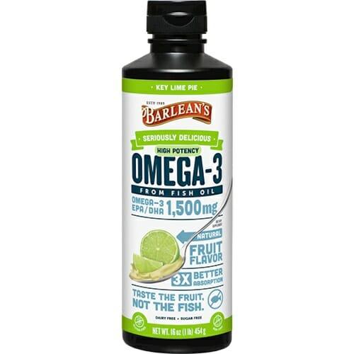 Barlean's Organic Oils High Potency Omega-3 Key Lime Pie