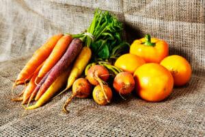carotenoid, beta carotene, yellow and orange vegetables