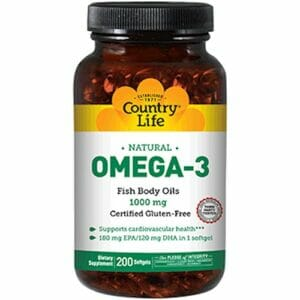 Country Life Omega-3 Fish Oil 1000 mg