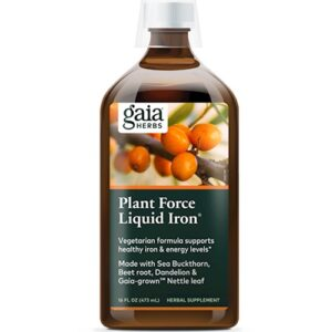 Gaia Herbs Plant Force Liquid Iron