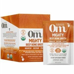 Om Mushrooms Mighty Beef Bone Broth