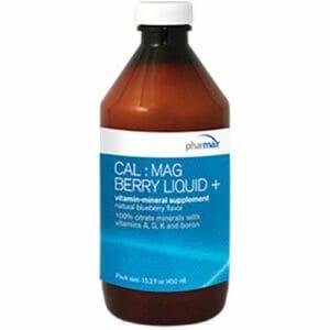 PharMAX Cal : Mag Berry Liquid + | Bone Health Support, 15.2 fl oz