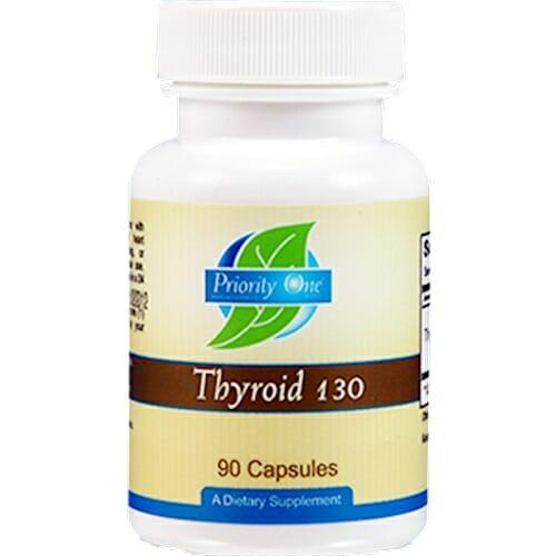 Priority One Vitamins Thyroid 130 mg