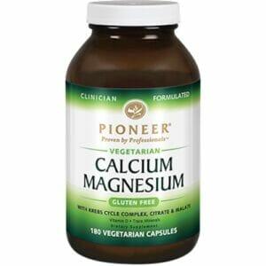 Pioneer Calcium Magnesium | Vegetarian friendly | 180 Vegcaps