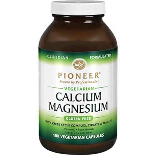 Pioneer Calcium Magnesium   Vegetarian friendly   180 Vegcaps